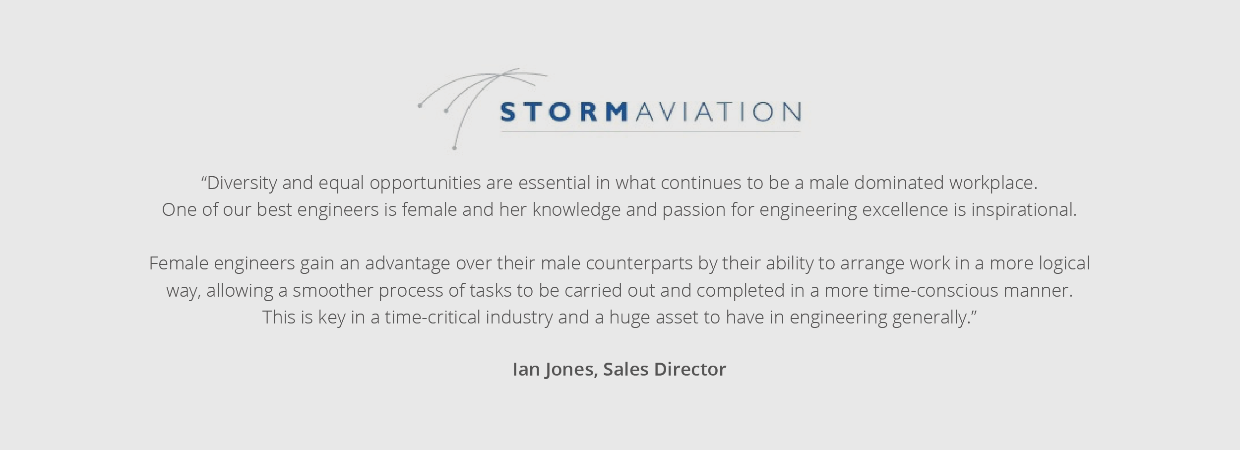 Storm Aviation quote